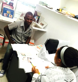 A SPRING consultant conducts an in-depth interview with a health care worker about the NACS and IYCF trainings. Source: Teemar Fisseha, SPRING