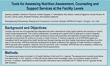 Tools for Assessing Nutrition Assessment, Counseling, and Support Services at the Facility and Community Levels