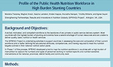 Profile of the Public Health Nutrition Workforce in Five High-Burden Stunting Countries: Constraining and Enabling Factors