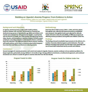 Building on Uganda's Anemia Progress: From Evidence to Action