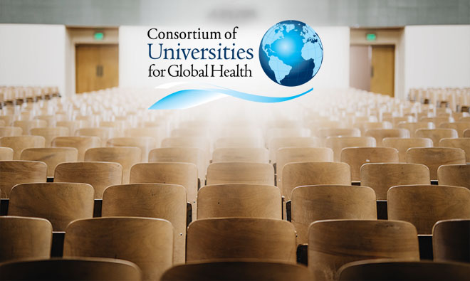 Cover image featuring the logo for the Consortium of Universities for Global Health