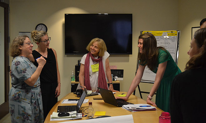 SPRING SBCC Team Lead Peggy Koniz-Booher facilitates a discussion on Referral Systems/Pathways in a breakout session.