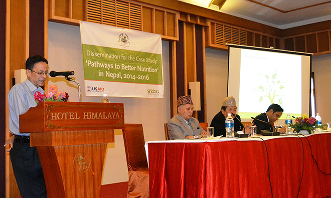 Madhukar B. Shrestha presents the results of the PBN study in Nepal