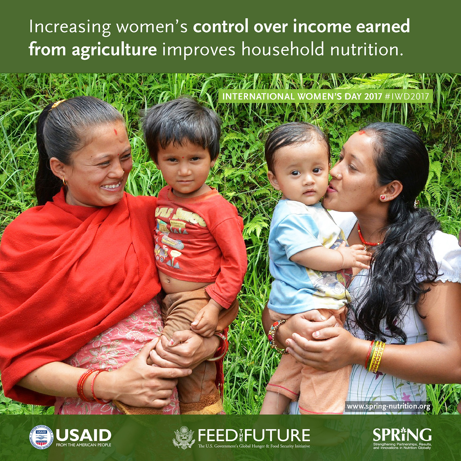 Increasing women's control over income earned from agriculture improves household nutrition.