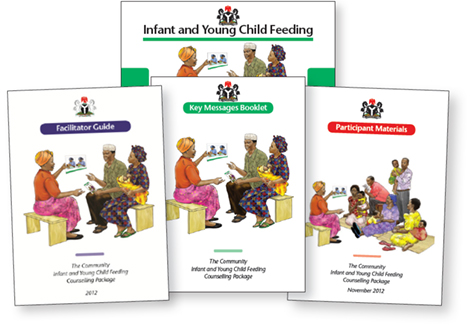 Thumbnails of the C-IYCF Counselling Package.