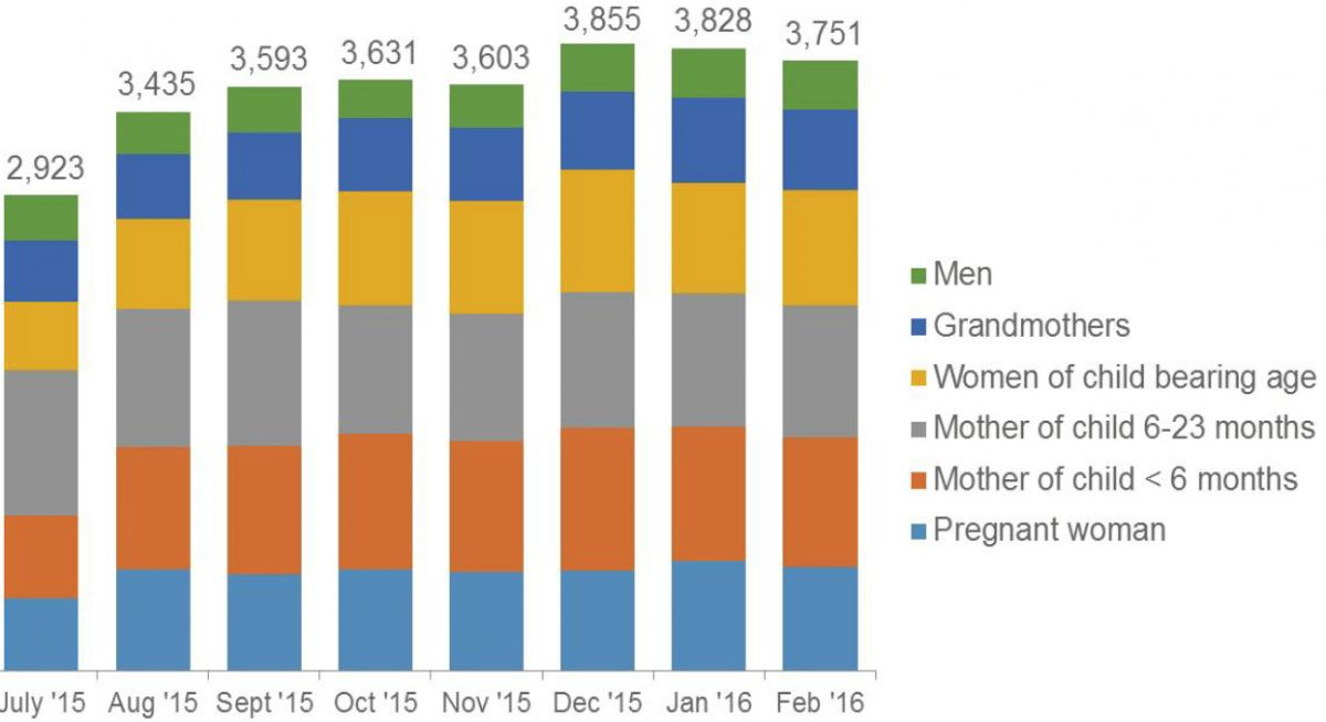 Figure 11: Support Group Meeting Participants, by Type and Month
