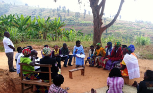 Focus group discussion in Nyanza