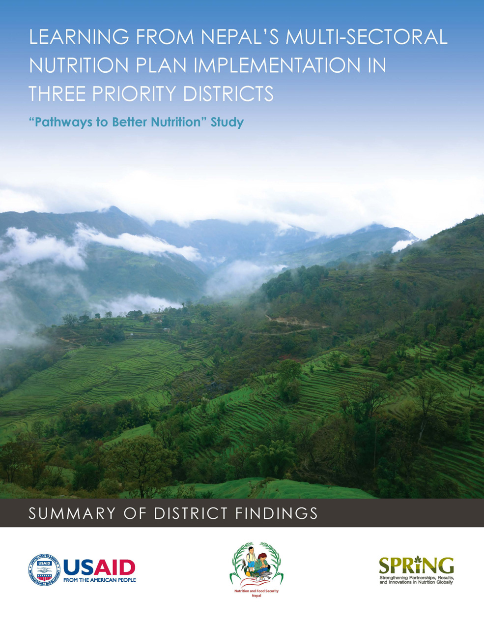 "Photo of SPRING publication ""Learning from Nepal's Multi-Sectoral Nutrition Plan Implementation in Three Priority Districts"""