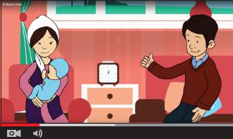 Screen capture from an animated nutrition video.