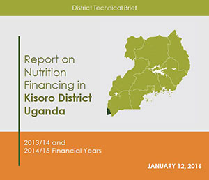 Report on Nutrition Financing in Kisoro Disctrict Uganda front page