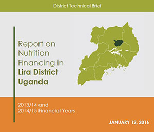 Report on Nutrition Financing in Lira District Uganda