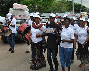 Participants in Wuse market, Abuja—WBW 2014