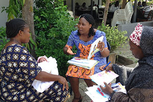 Participants carrying out a one-on-one counsellingsession at Family Health Clinic Area 2, Abuja