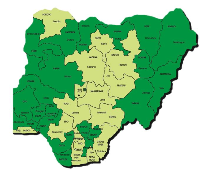 SPRING/Nigeria's Implementation Areas, by State