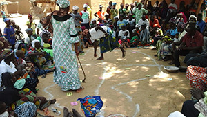 SPRING staff trigger a village in Koro, Sept 2015