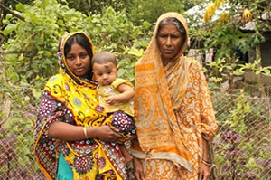 Mothers-in-law play an important role in the raising of small children in rural Bangladesh.