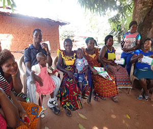 Mary (third from left) and her baby, Osogbon, attend a C-IYCF support group meeting in Eror community.