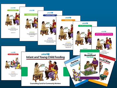The C-IYCF Counselling Package is a comprehensive tool for promoting nutrition practices, and used the photo-to-illustration process for the development of its images.