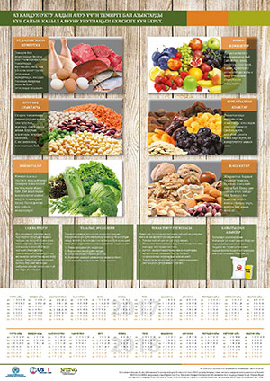 Two year anemia calendar