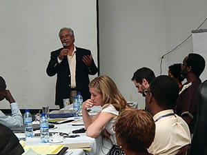 Participants gathered at the MSPP on February 18, 2014 to discuss a multisectoral strategy to reduce undernutrition in Haiti. Photo Credit: Mireille Henry, Nutrition Directorate MSPP.