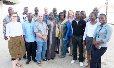 Participants from the first workshop, which included all SPRING/Senegal technical staff.