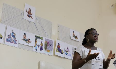Suzanne of KAWOLOR explains group work and key practices contributing to a healthy mother and infant.