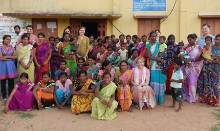 The field visit group in Jharkhand, India.