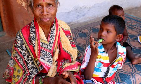 Grandmothers play a key role in helping with household decision making and responsibilities, such as child care. Photo credit: Peggy Koniz-Booher, 2017