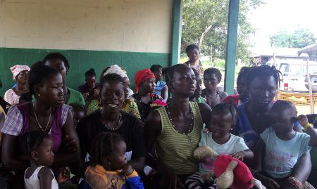 Mother support groups meet to learn about infant and young child feeding practices.