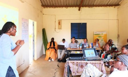 Grace Ezan, ENA/EHA Advisor, provides a background of the nutrition environment within the SPRING/Senegal program zone of influence.
