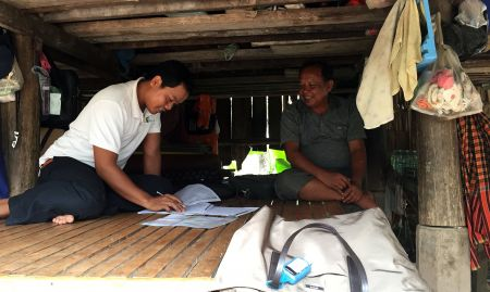 Observation of the Quarterly Performance Monitoring Survey for one project in Cambodia. This project's monitoring and evaluation (M&E) staff is responsible for collecting data.