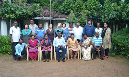 The research team, including partners from SPRING, Digital Green, VARRAT, Ekjut, and the London School of Hygiene and Tropical Medicine.