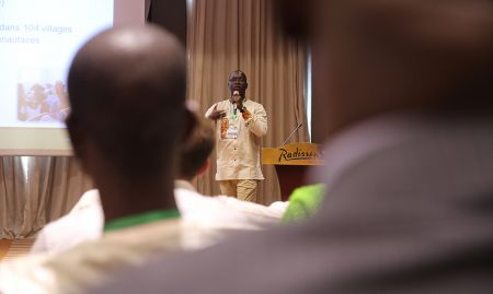 SPRING/Senegal SBCC advisor Albert Yera Boubane was the MC for the close-out ceremony in Dakar.