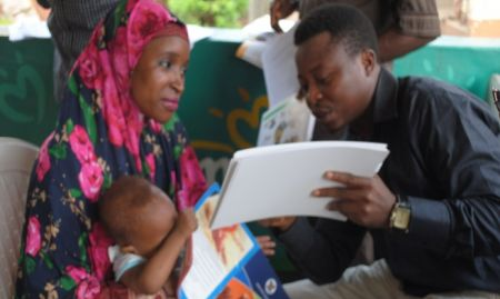 A mother receives one-on-one counseling in a township clinic in Gwagwalada Area Council in FCT. 2015