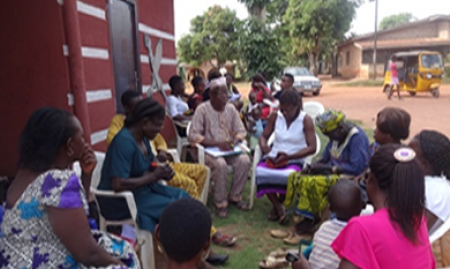 A Support Group meeting in Edo State. 2015