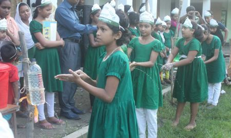 Children demonstrating tippy taps