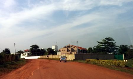 Approaching the gates of the BIDCO factory