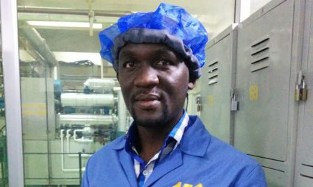 Kenneth not looking particularly happy in his hairnet