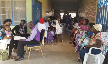 Counseling session with a mother at a PHC as part of the practical application of the C-IYCF coaches-level training, Jos, Plateau state. 2015