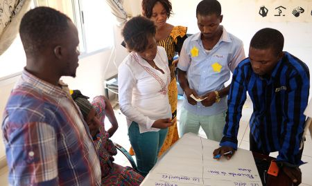 Using a local seasonal calendar, participants consider the opportunities and challenges to nutrition throughout the year.