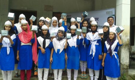 The winners of a World Breastfeeding Week quiz competition in Dumki upazila