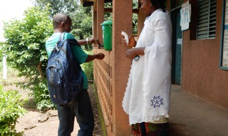 Ebola handwashing and temperature