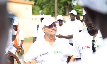 SPRING/Senegal Chief of Party Bob de Wolfe participated in the hike.