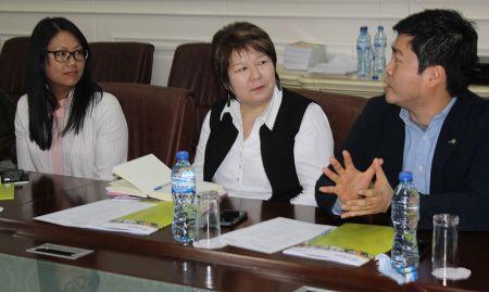 Nora Madrigal (USAID), Aisha Zhorobekova (USAID), and Il Hyong Won (Good Neighbors)