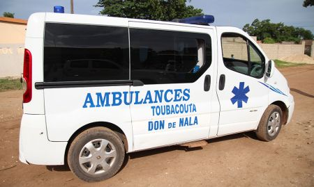An ambulance and medics were on hand to attend to any emergencies.