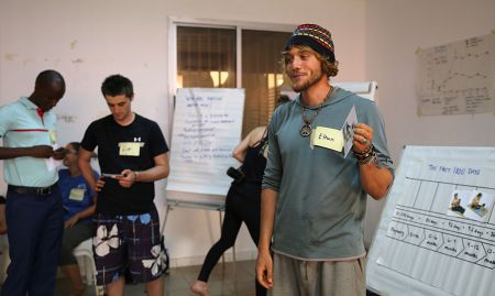 Peace Corps volunteer, Ethan, shares his group's discussion on the importance of a phase within the first 1000 days.