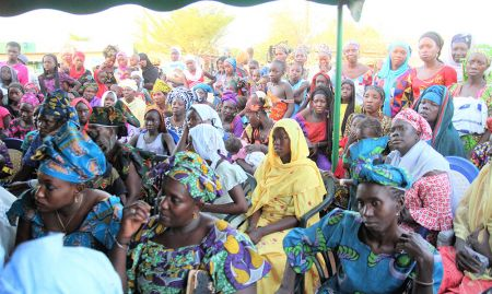 Hundreds participated in the Dinguiraye World Malaria Day events.