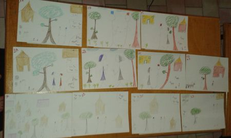 "The final storyboard reflects suggestions and changes from the community. From here, SPRING/DG will incorporate a story line where the ""cleaner man"" invites the other man to his house to show how environmental hygiene can be done locally. The second man's children will then have dinner at the first man's home."