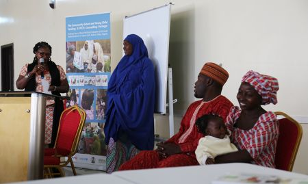 In Kaduna, Ms. Chinwe Ezeife, UNICEF/Nigeria Nutrition Specialist, introduced community leaders and members who were invited to share their experiences participating in various activities implemented as part of the C-IYCF Counselling Package.