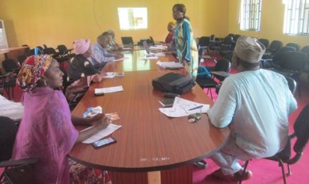 Participants attend a Nasarawa State-level sensitization meeting. 2015